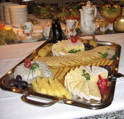 Kalte platten for Italienische dekoration